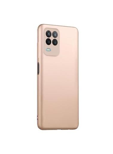 Microsonic Matte Silicone Oppo A54 4G Kılıf Gold Altın